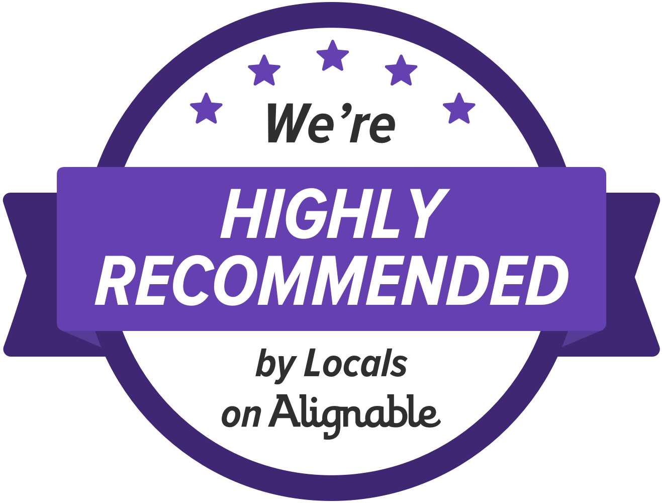 Alignable Highly Recommended Business Badge